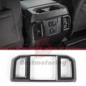 Carbon Fiber Rear Air Conditioning Outlet Vents Trim Cover For Ford F150 2016 18