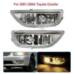 2pcs Car Front Bumper Driving Fog Light For Toyota Corolla 2001 2002 81210 02040