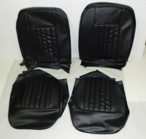 New Black On Black Vinyl Seat Upholstery Set Mgb 1962 68 Best Quality Made Usa