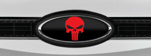New Design Ford F150 All Models Punisher Black red Logo Overlay Decals 3pc Kit