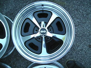 4 17 x8 Ar Vn500 Wheels Chevy ss olds 442 gm 5 On 4 75 magnum 500 Spinners caps