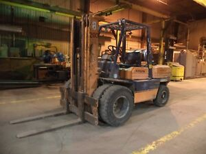 Toyota Model 5fg45 10 000 10000 Dual Pneumatic Tired Forklift Gas Powered