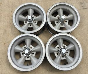 Torque Thrust Style Aluminum Mag Wheels 14x7 Gm 5 On 4 75 Matching Set J14492