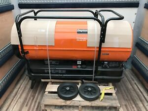 Dayton Oil Fired Torpedo Heater 40 Gal 4 50 Gph 650 000 Btu 13 500 Sq Ft