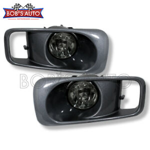For 1999 2000 Honda Civic Ek Si Smoke Tinted Glass Lens Fog Light Switch Harness