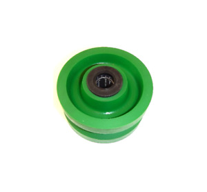 V groove 4 X 2 Solid Polyurethane Wheel With 3 4 Id Needle Roller Bearing