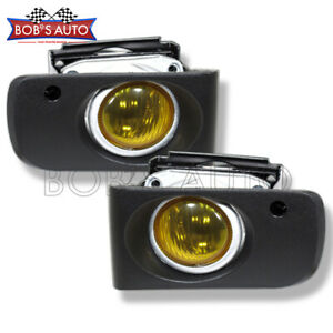 For 94 97 Integra Ls Gs Rs Gsr Yellow Jdm Bumper Driving Fog Lights Glass Lens
