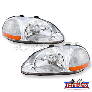 For 1996 1997 1998 Honda Civic Ex Lx Dx Cx Oe Style Headlight Headlamps Pair L r