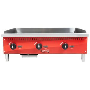 Countertop Natural Gas Or Lp Griddle 36 Manual Controls Flat Top Grill