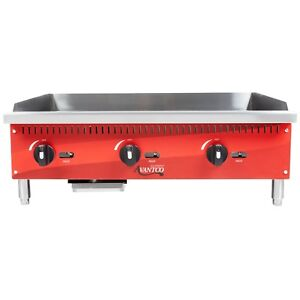 Countertop Gas Griddle 36 Manual Controls Commercial Flat Top Grill
