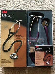 3m Littmann Master Cardiology Stethoscope model 2167 Plum 27 Inches