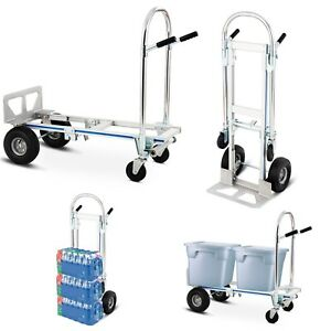 Aluminum Hand Truck Cart Furniture Moving Dolly Appliance Refrigerator Trolley