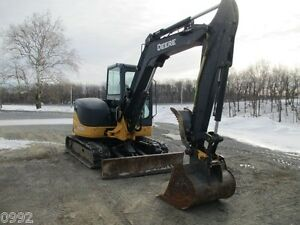 2011 John Deere 60d Hydraulic Excavator Full Cab Air Heat 1882 Hours