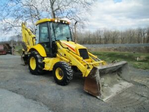 2005 New Holland Lb90b Tractor Loader Backhoe Cab 4wd Extendahoe 5503 Hours
