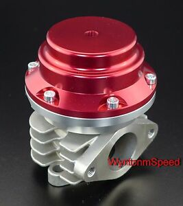 38mm Wastegate 10 Psi Turbo External Exhaust Dump Valve W ss Flange Red