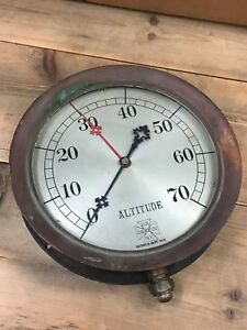 1906 Very Rare 10 Us Gauge Co New York Altitude Gauge Industrial Steampunk