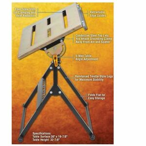 Steel Welding Table Portable Adjustable Angle 350 Lb Load Heavy Duty Resist Rust