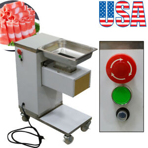 Ups Commercial Meat Slicer Meat Cut Machine Cutter Vertical 500kg hour Stainless
