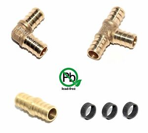 175 1 2 Kit Pex Crimp Crimping Fittings With Copper Crimping Rings Lead Free