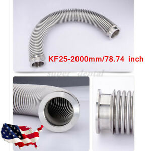Bellows Hose Metal Kf 25 78 74 Inch Tubing 2000mm Iso kf Flange Size Nw 25