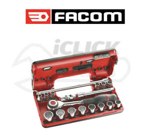 Facom J 360dbox112 18pc 3 8 Sd Metric 12 Point Bi Hex Socket Set In Box New