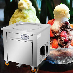 Smart Fried Ice Cream Machine 19 7 Round Pan Ice Cream Roll Maker 15 L h 1800w