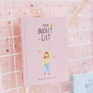 Daily Planner Notebook 100 Bucket Wish List Plan To Do Boxed Colorful Flowers