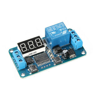 5pcs Geekcreit Dc 12v Led Display Digital Delay Timer Control Switch Module Plc