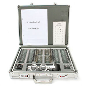 158pcs Optical Trial Optometry Lens Set With Metal Aluminium Code Case