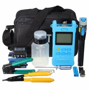Fc 6s Fiber Optic Ftth Tool Kit Fiber Cleaver Power Meter Visual Finder Locator