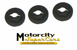 1960 79 All Gm Pontiac Olds Buick Chevy Fender Emblem Speed Nuts Smooth Edge Oem