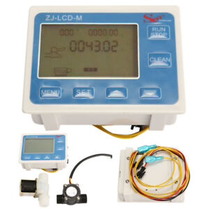 1 2 Water Flow Control Lcd Meter With Flow Sensor And Solenoid Val