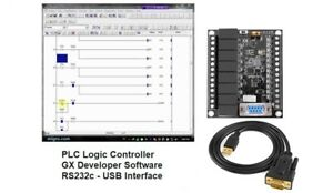 Plc Ladder Logic Programmable Controller Training Kit 12in 8 Out W Software Usb
