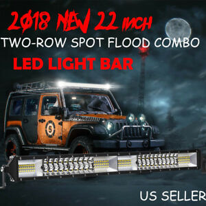 For 2010 2017 Ford F150 22inch Led Light Bar Spot Flood Combo Offroad Jeep Truck