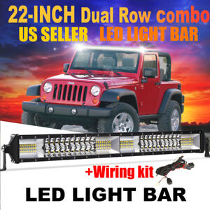 Philips 22inch 280w Combo Led Light Bar Offroad Driving 4wd Atv Boat Wiring Kit