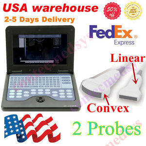Fda Us Digital Portable Ultrasound scanner machine convex linear Two Probes
