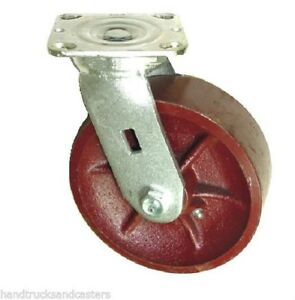 Extra Swivel Caster 8 x2 Ductile Steel Wheel 4 x4 1 2 Plate 2000 Cap