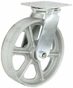 2 Albion 16 Series Swivel Plate Casters 8 X 2 Cast Iron Wheel