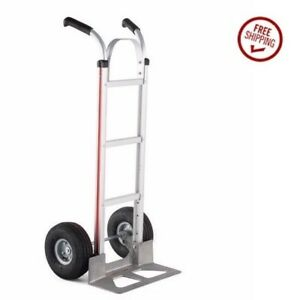 Magliner Hand Truck With Strap Double Grip Handle 14 Nose 10 Pneumatic Tire