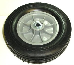 Hand Truck Tire With Offset Hub Semi Pneumatic 10 X 2 3 4 Wheel With 3 4 Id