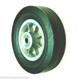 Solid Rubber 8 X 2 1 2 With Offset Hub Cart Or Truck Wheel W 3 4 Id Bearing