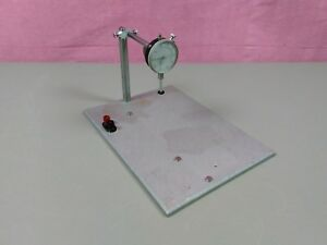 Dial Indicator 1 Test Stand Aluminum Plate Electrical Hookups Machinist 999 380