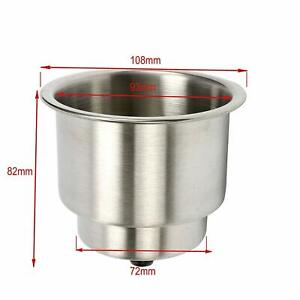 Se 10pcs Stainless Steel Cup Drink Holder For Marine Boat Rv Camper Tables New