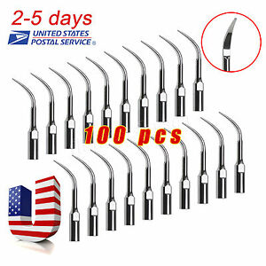 100 Dental Ultrasonic Scaler Scaling Piezo Tips Compatible Satelec Dte Gd4 Kwsx