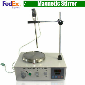 Magnetic Stirrer With Heating Plate 85 2 Hotplate Mixer Digital Display 2000ml