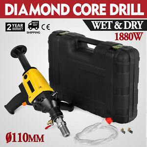 Vevor 110mm Hand Held Diamond Core Drill With 2 Speed Concrete Drill