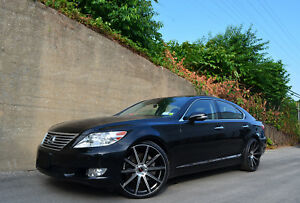 4 Gwg Wheels 22 Inch Staggered Black Mod Rims Fits Lexus Ls460 2012