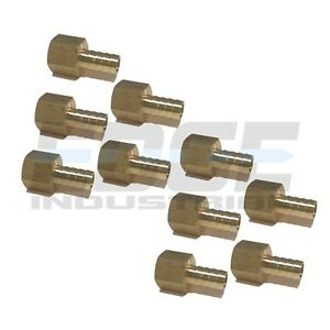 10 Pack 1 2 Hose Barb X 1 2 Female Npt Brass Pipe Fitting Npt Wog Fuel Air