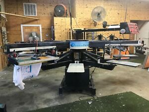 Workhorse Freedom Screen Press 6 Color 8 Station