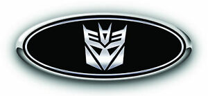 New Fits Various Ford Models Transformer Black chrome Overlay Decals 3pc Kit